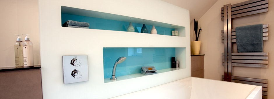 Wonderful Glass Is Waterproof, Impervious To Wear And A Perfect Substitute For Tiles  And Grout In Any Bathroom